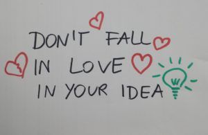 Don't Fall In Love In Your Ideas